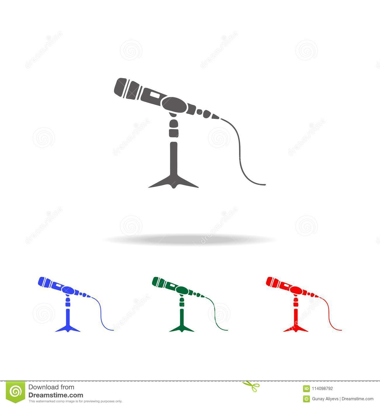 Microphone Stand Icon Elements Of Disco And Night Life