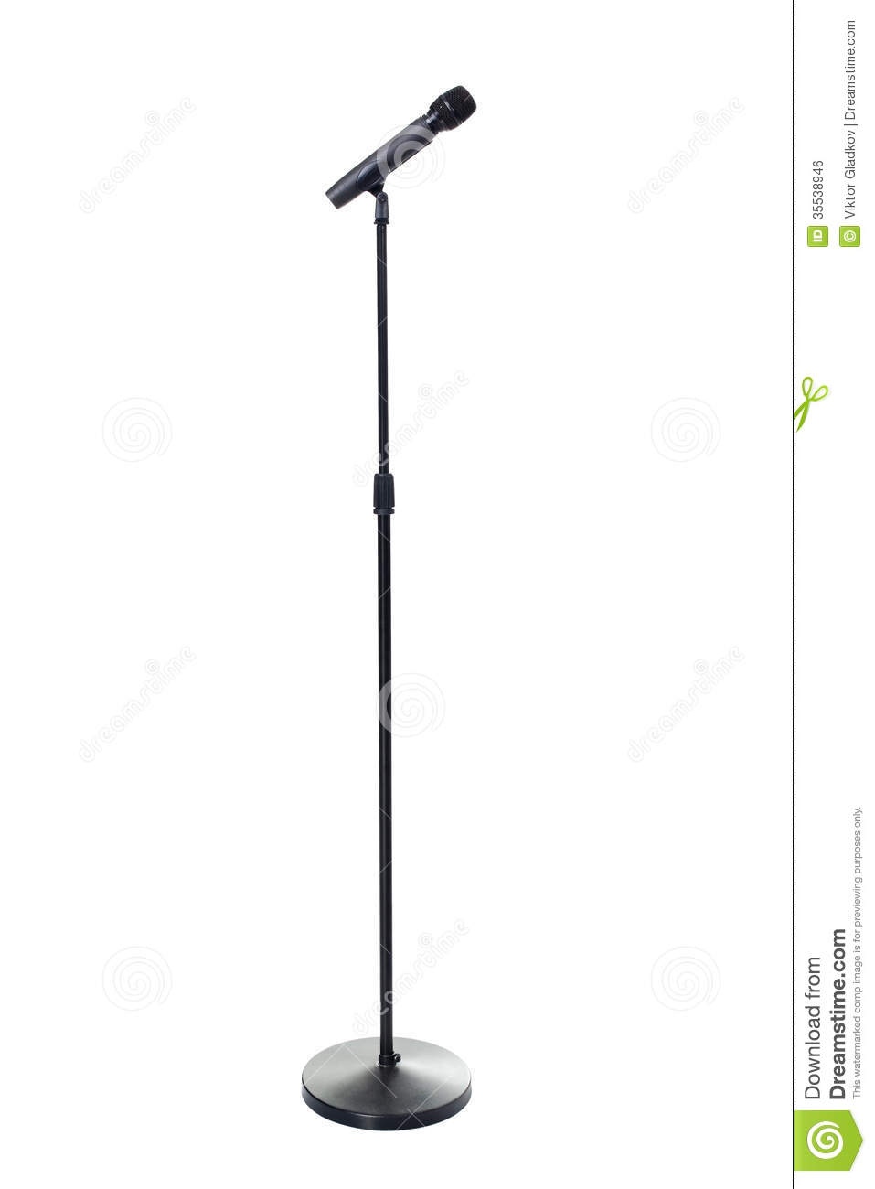 Microphone With Stand Drawing Microphone and stand