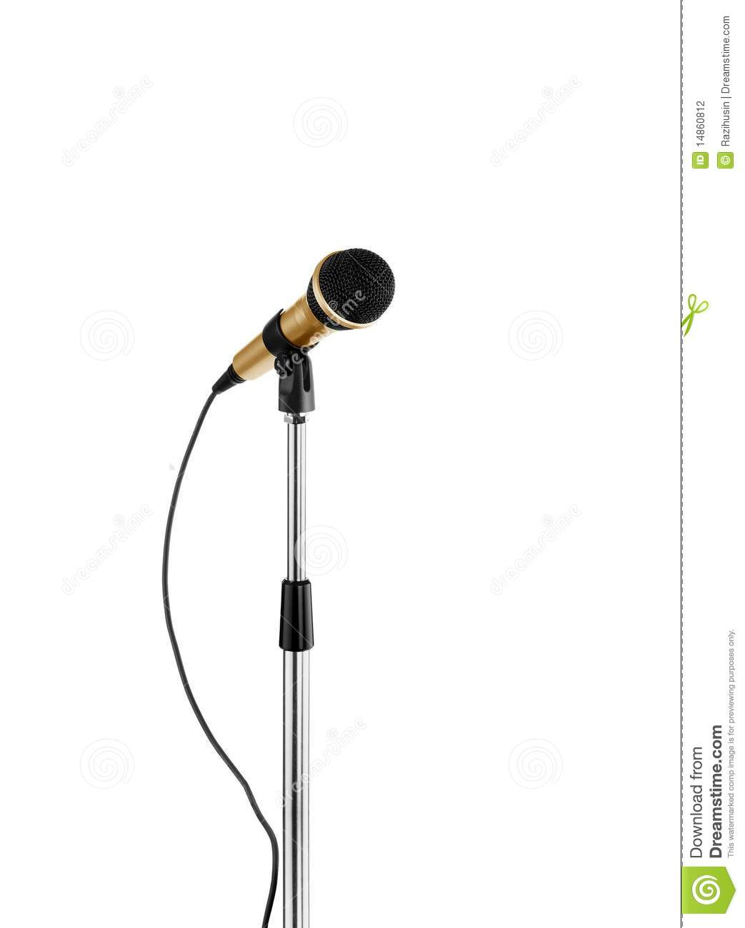 Microphone standing