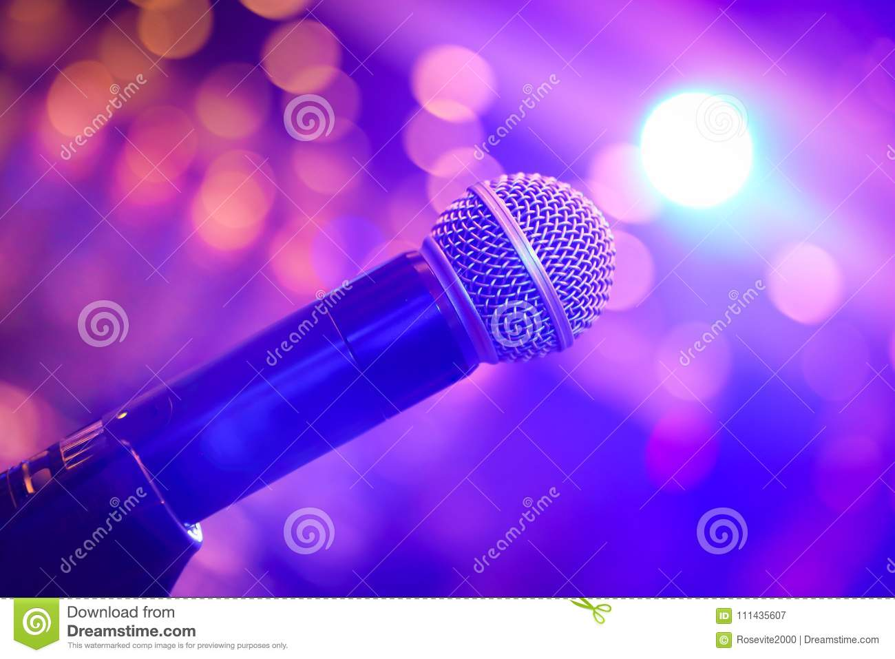 Microphone Surrounded by Light