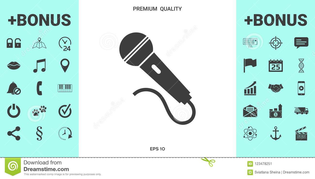 Microphone Symbol Icon Stock Vector Illustration Of Stage 123478251