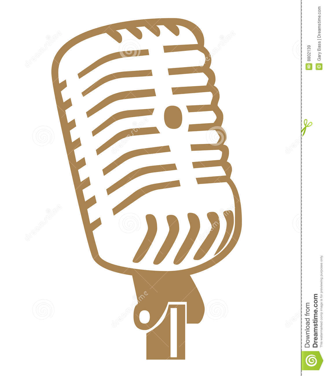 Microphone Symbols Royalty Free Stock Images