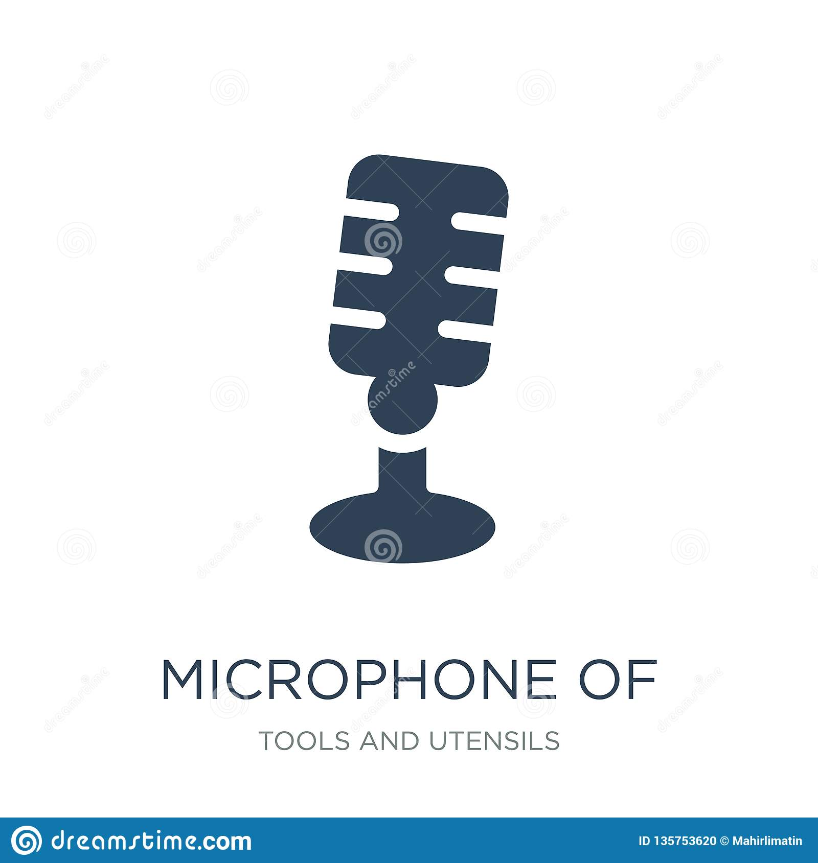 microphone of vintage de icon in trendy design style. microphone of vintage de icon isolated on white background. microphone of