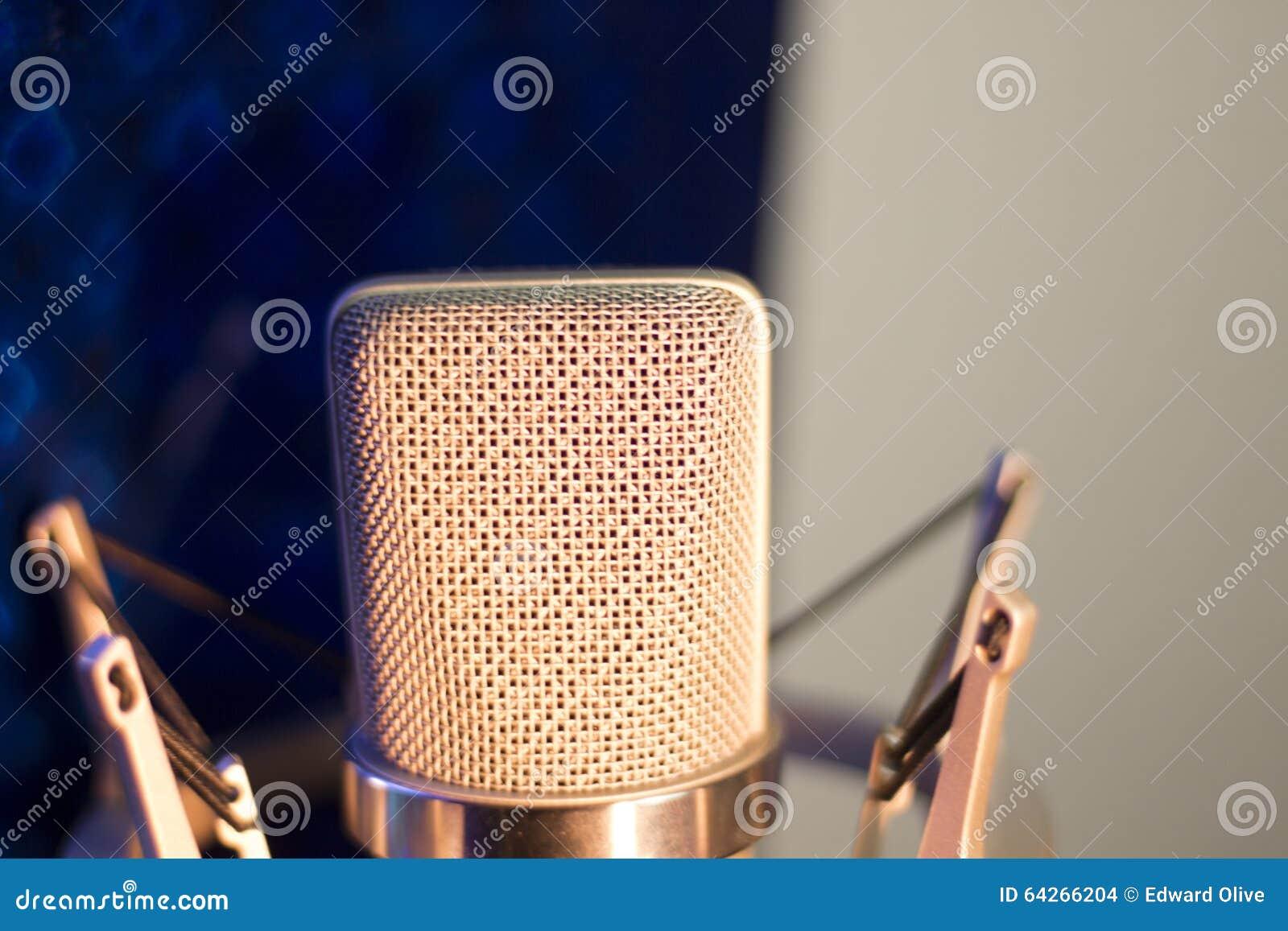 Microphone vocal de voix de studio d enregistrement audio