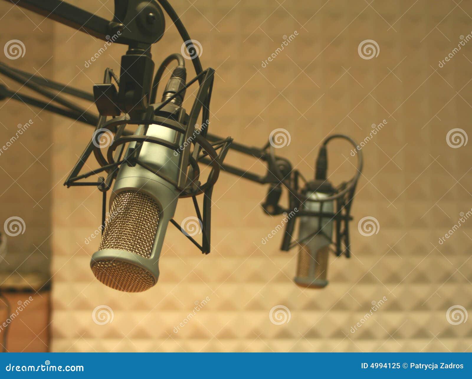 Microphones dans un studio