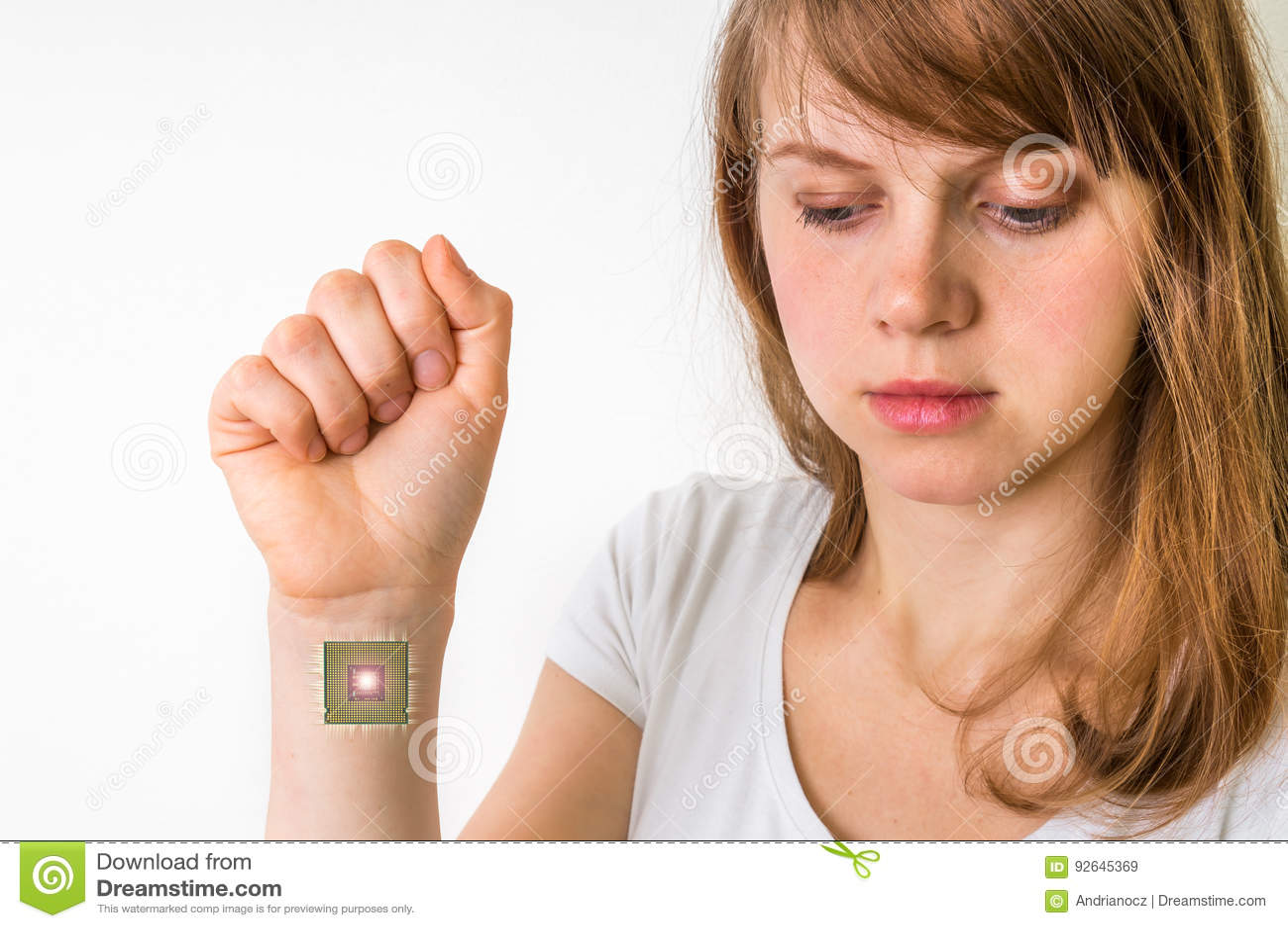 Microplaqueta Bionico Dentro Do Corpo Humano Conceito Da Cibernetica Imagem De Stock Imagem De Humano Conceito 92645369