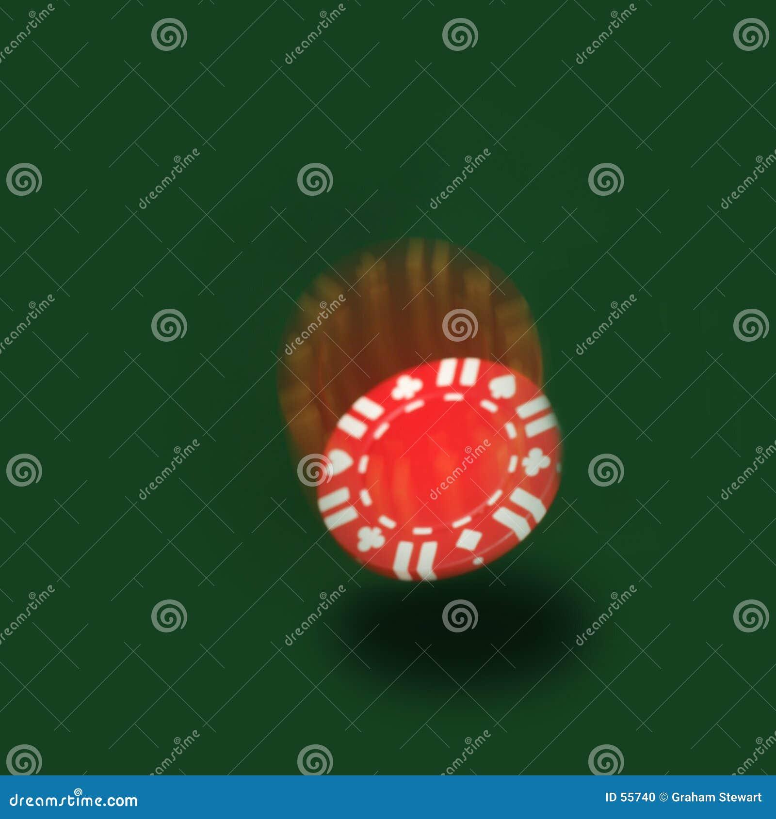 Microplaqueta de queda do póquer
