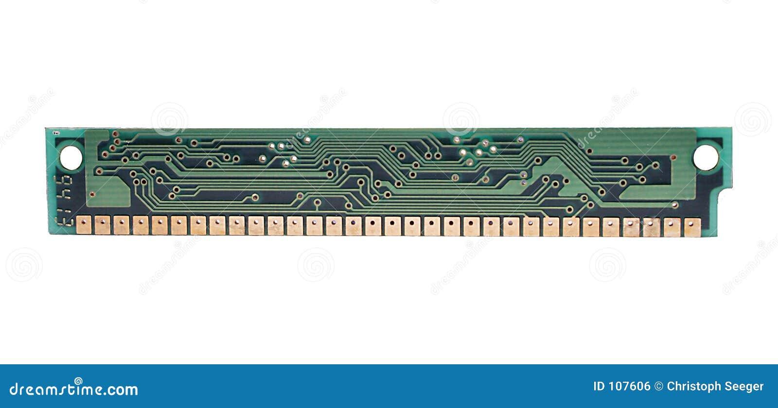 Microplaqueta de ram do computador