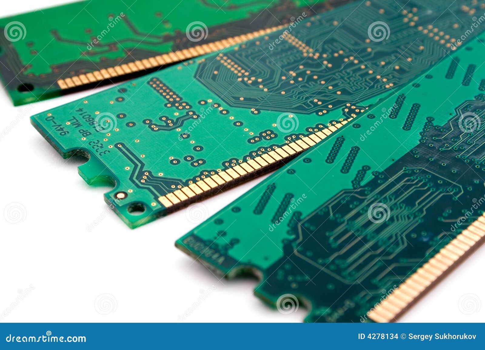 Microplaquetas da memória. isolado