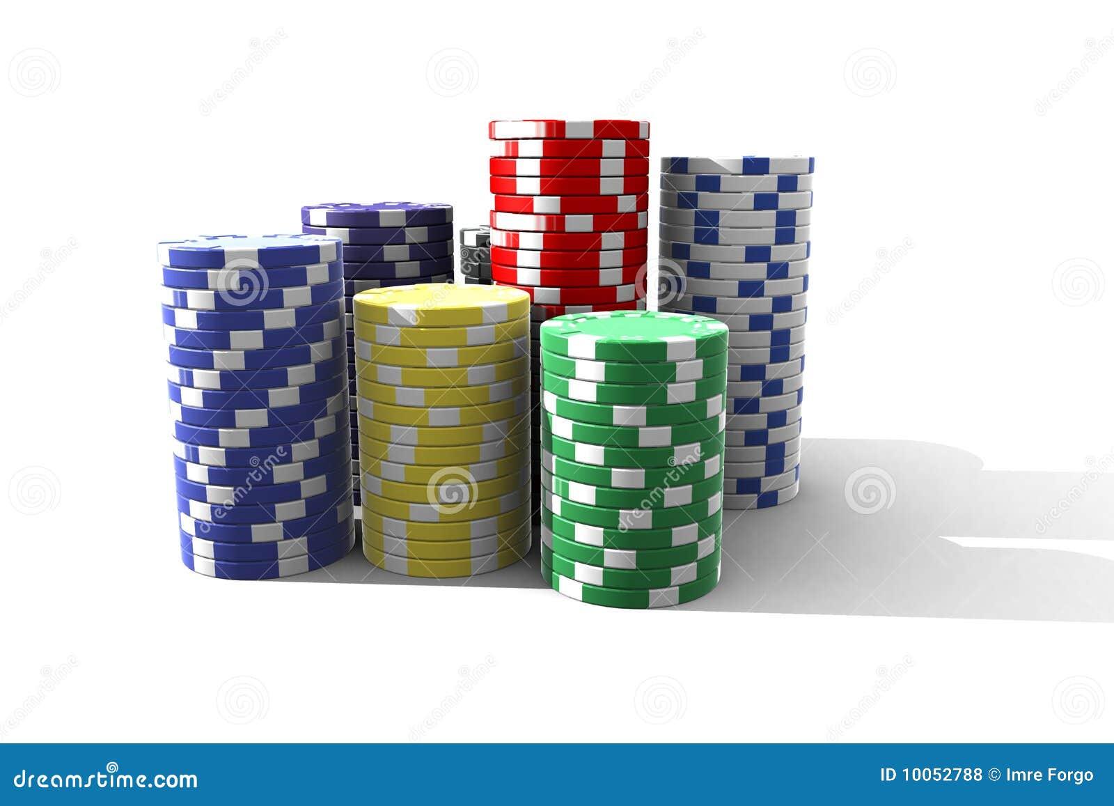 Microplaquetas de póquer isoladas