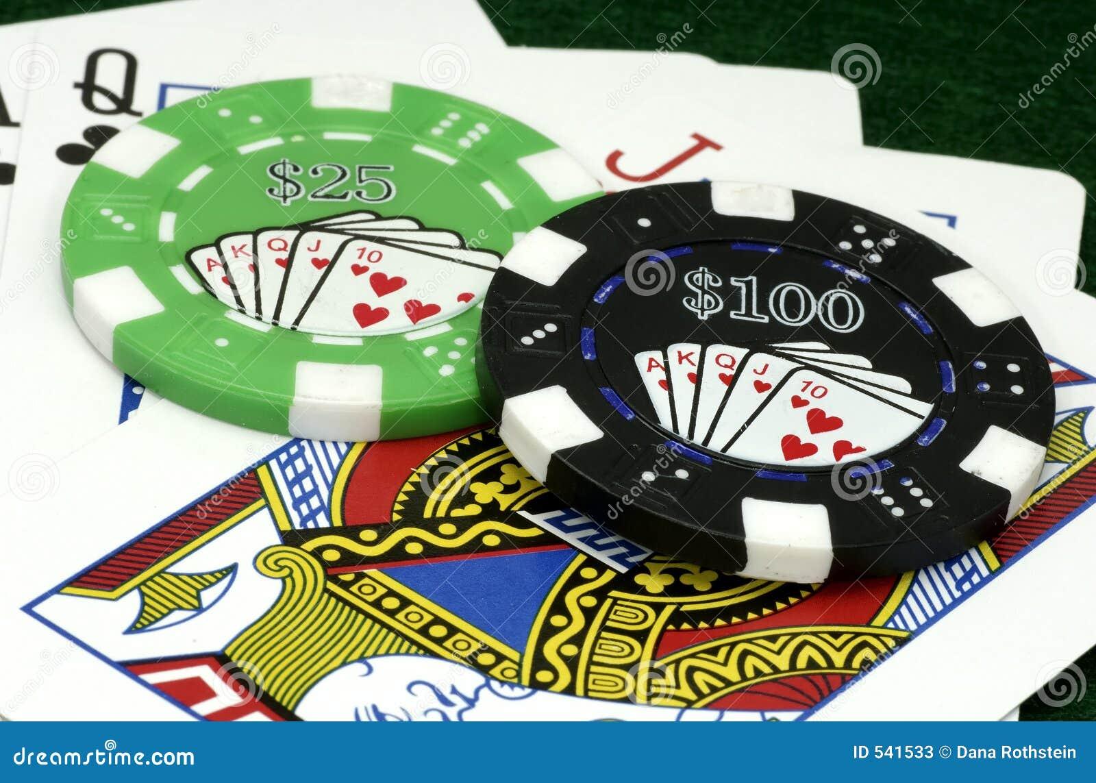 Microplaquetas do póquer