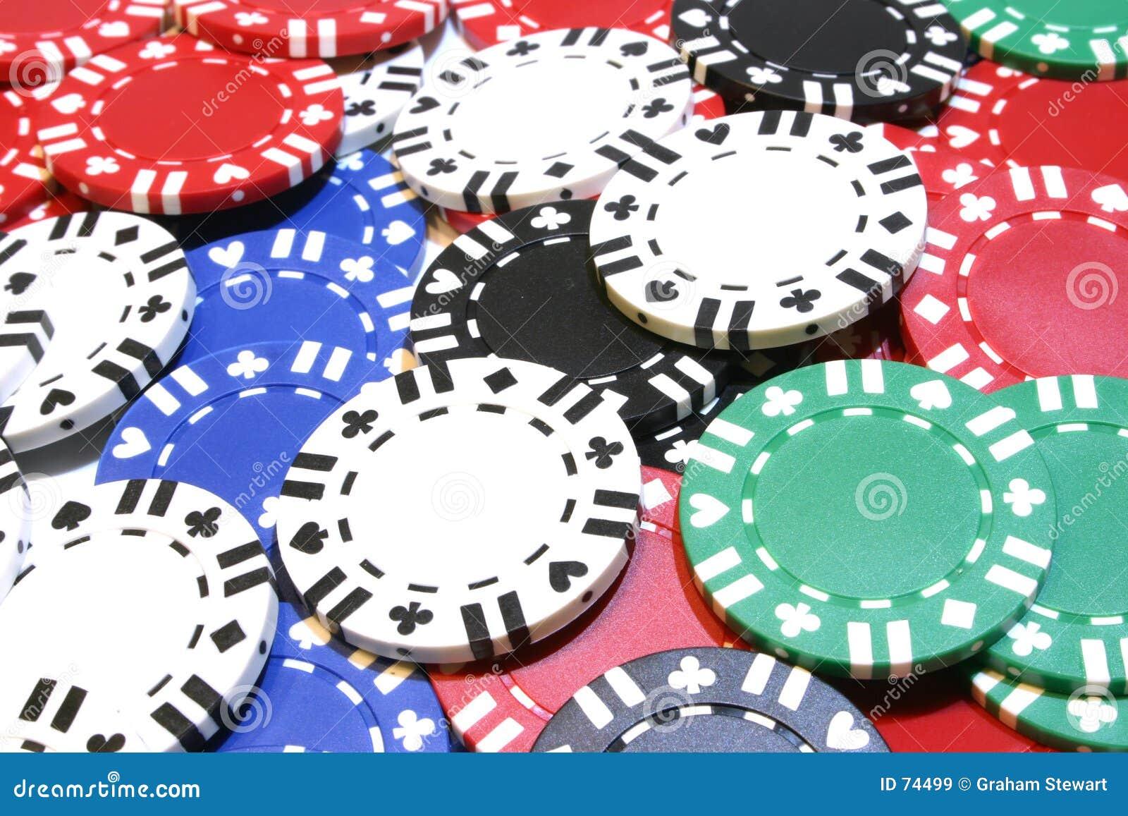 Microplaquetas do póquer do fundo