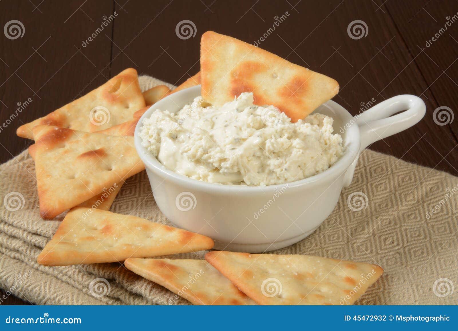 Microplaquetas e mergulho do pão árabe
