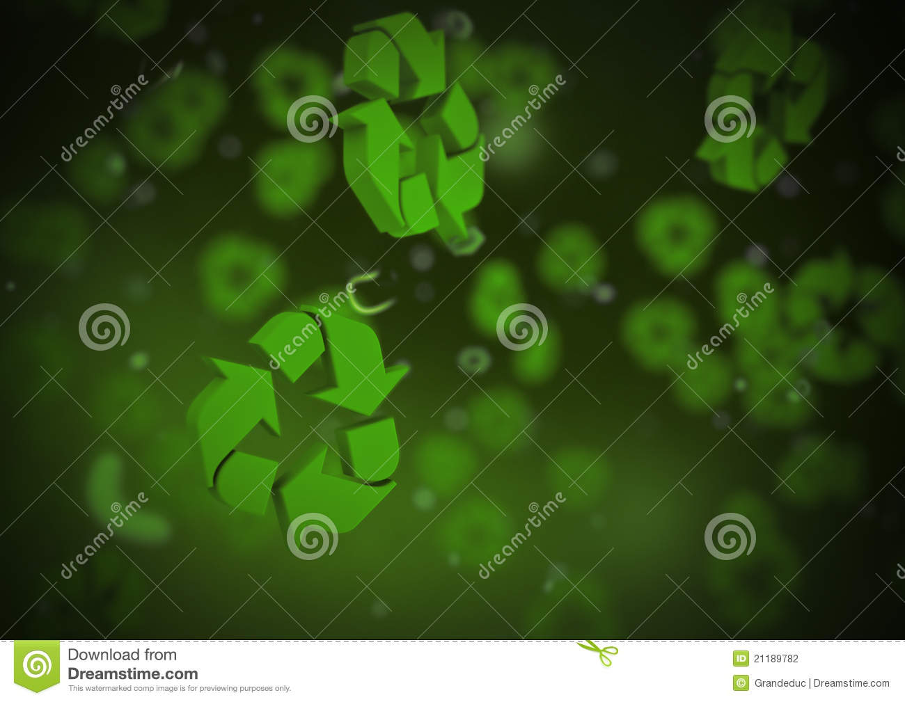Microscopic recycling background