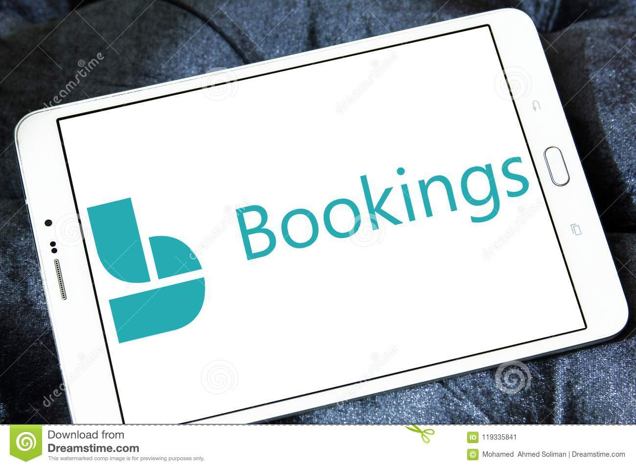 microsoft bookings logo editorial photo image of application