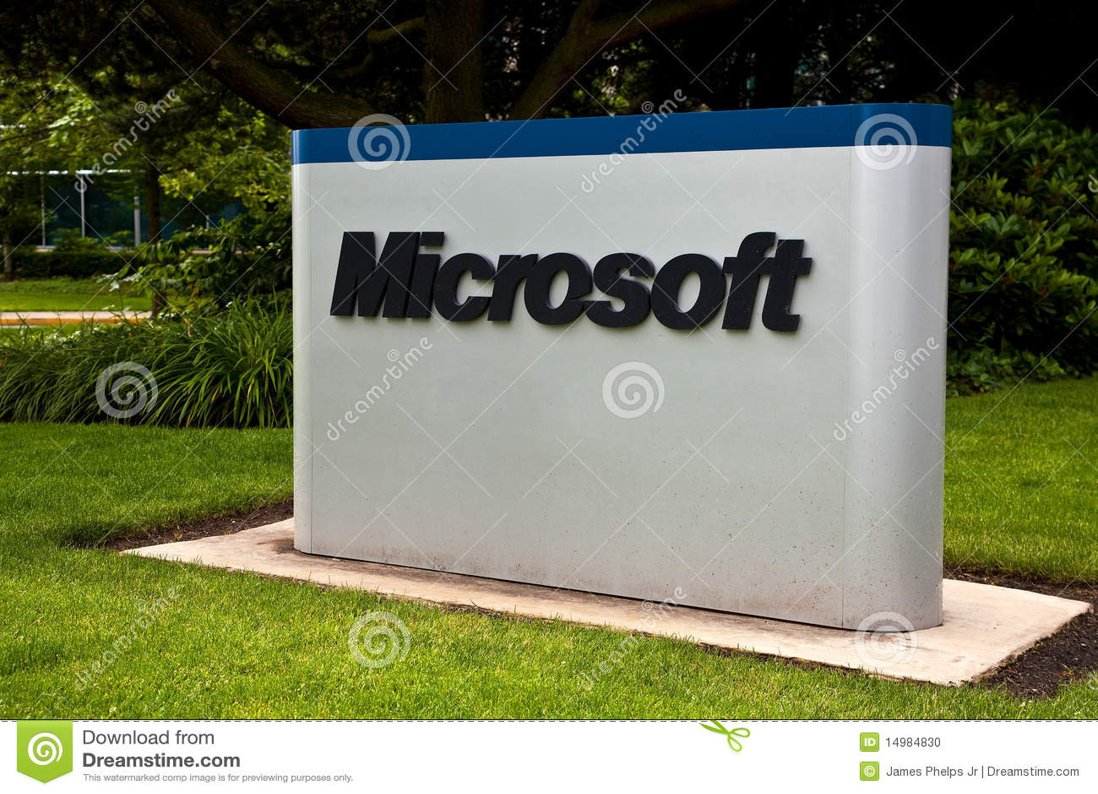 Microsoft Corporation Campus Sign Editorial Image Image Of Nasdaq