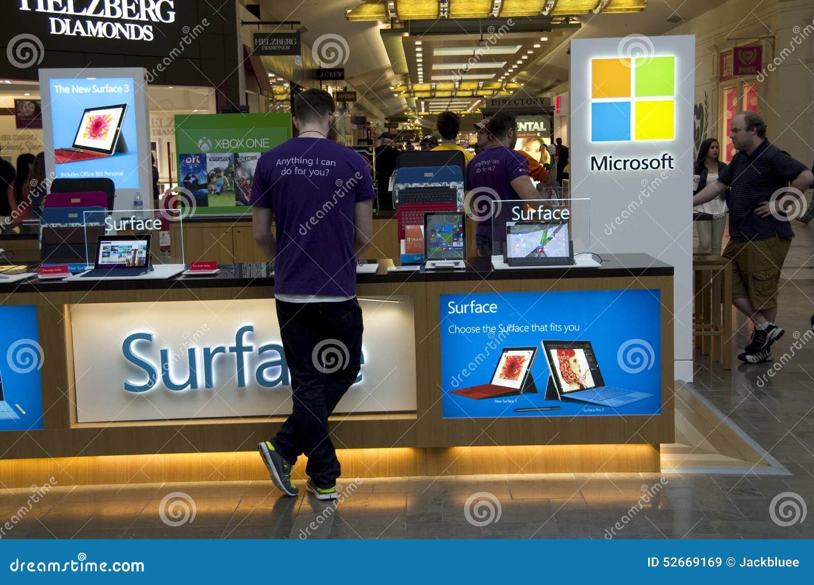 Microsoft-de winkel van de wandelgalerijkiosk