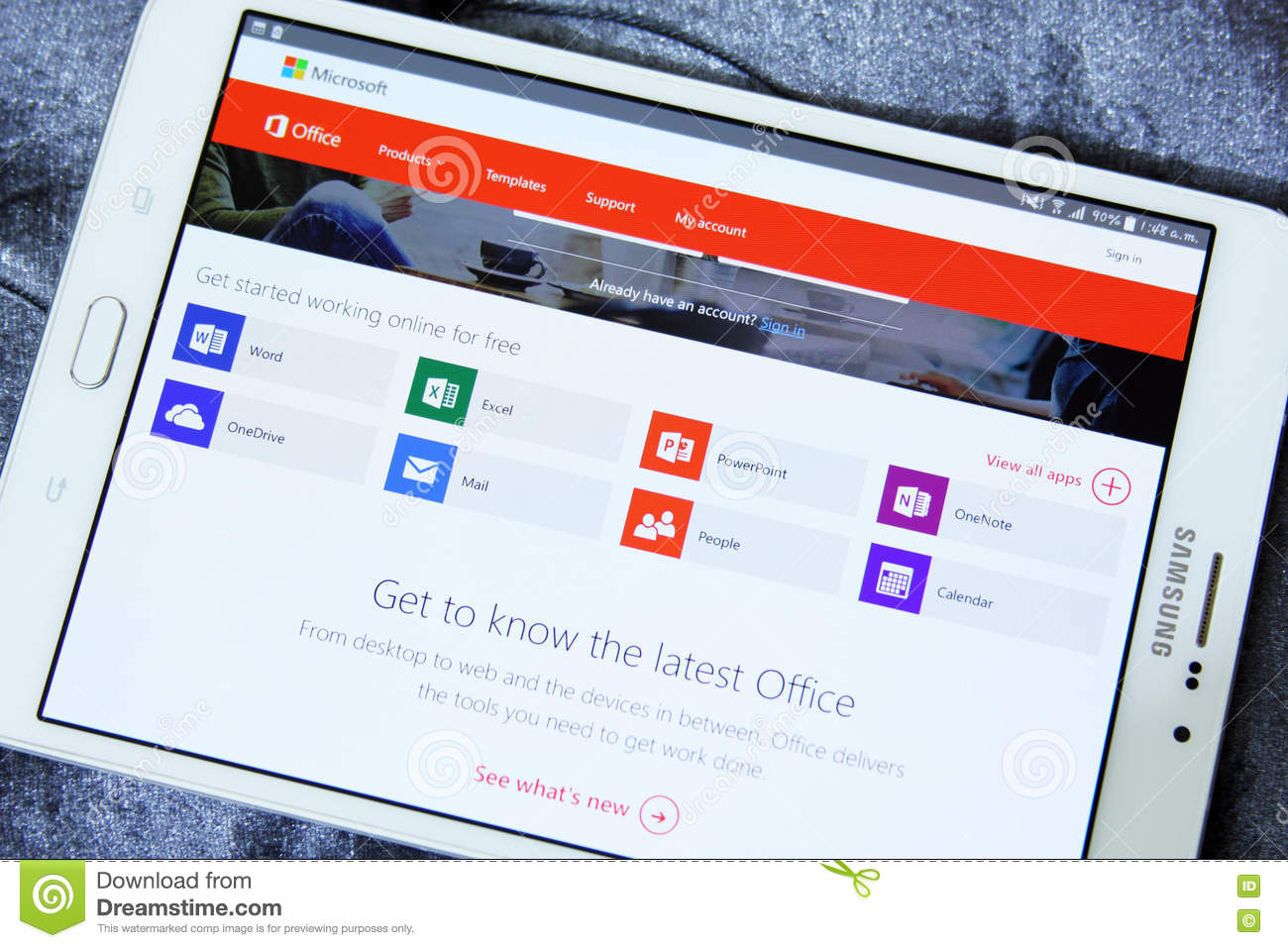 Microsoft office apps editorial photography  Image of