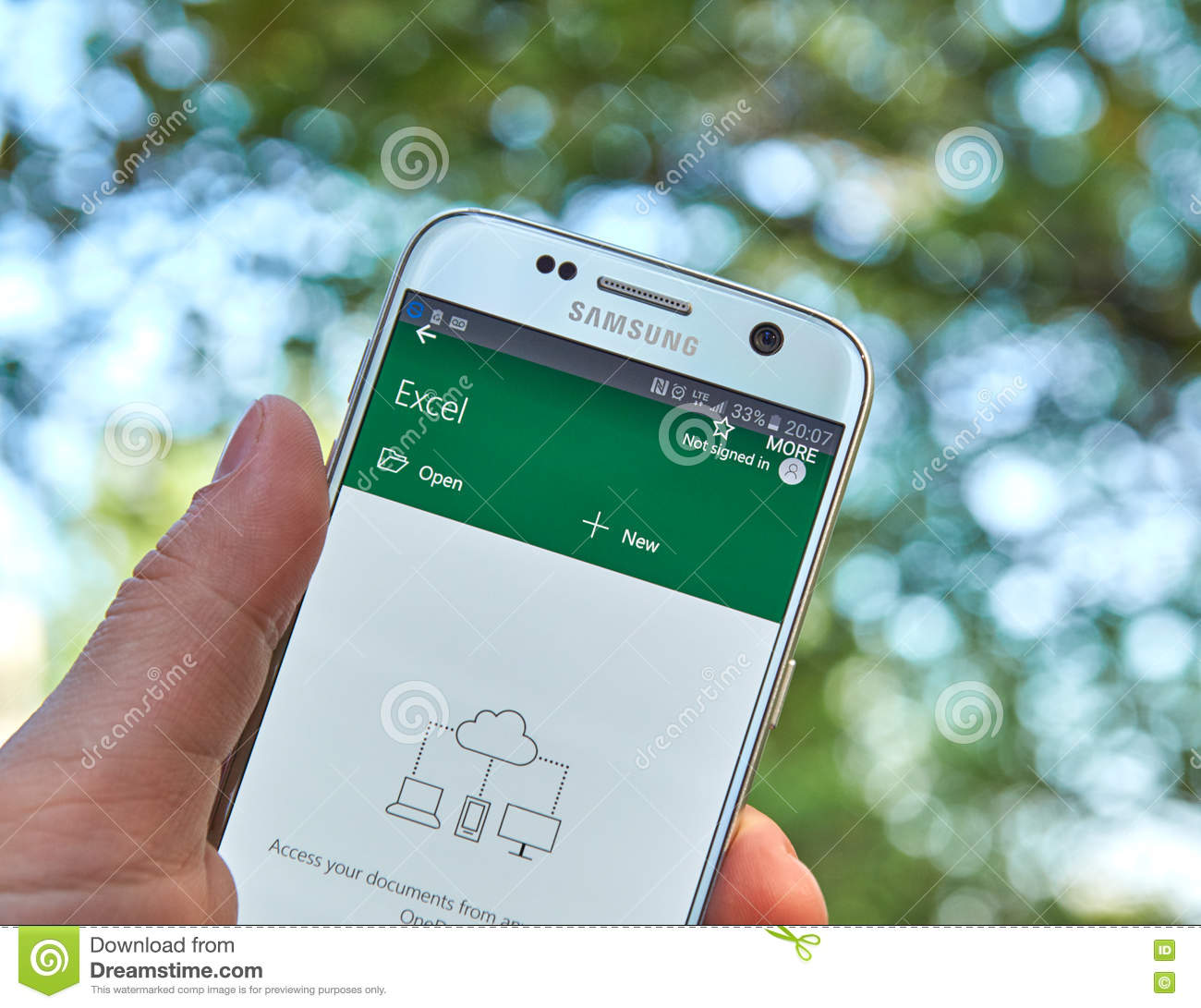 Microsoft Office Excel app editorial stock image  Image of concept