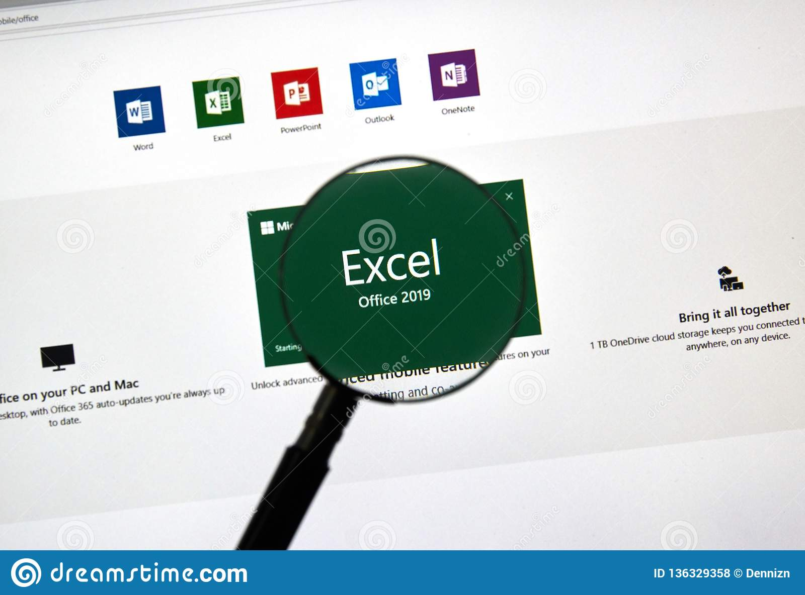 MIcrosoft Office Excel editorial stock photo  Image of