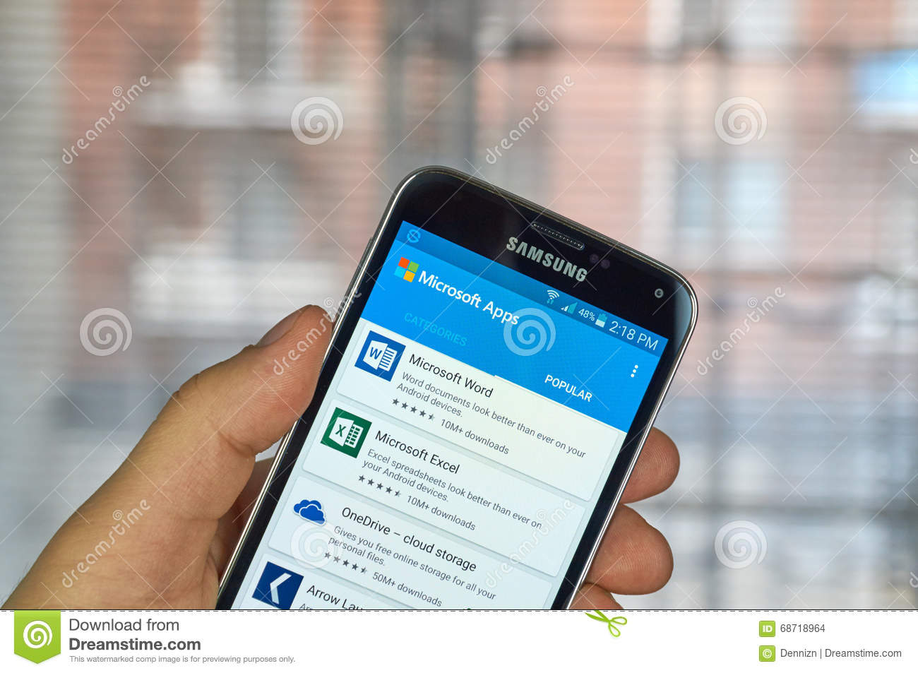 Microsoft Office Mobile Applications Editorial Stock Image