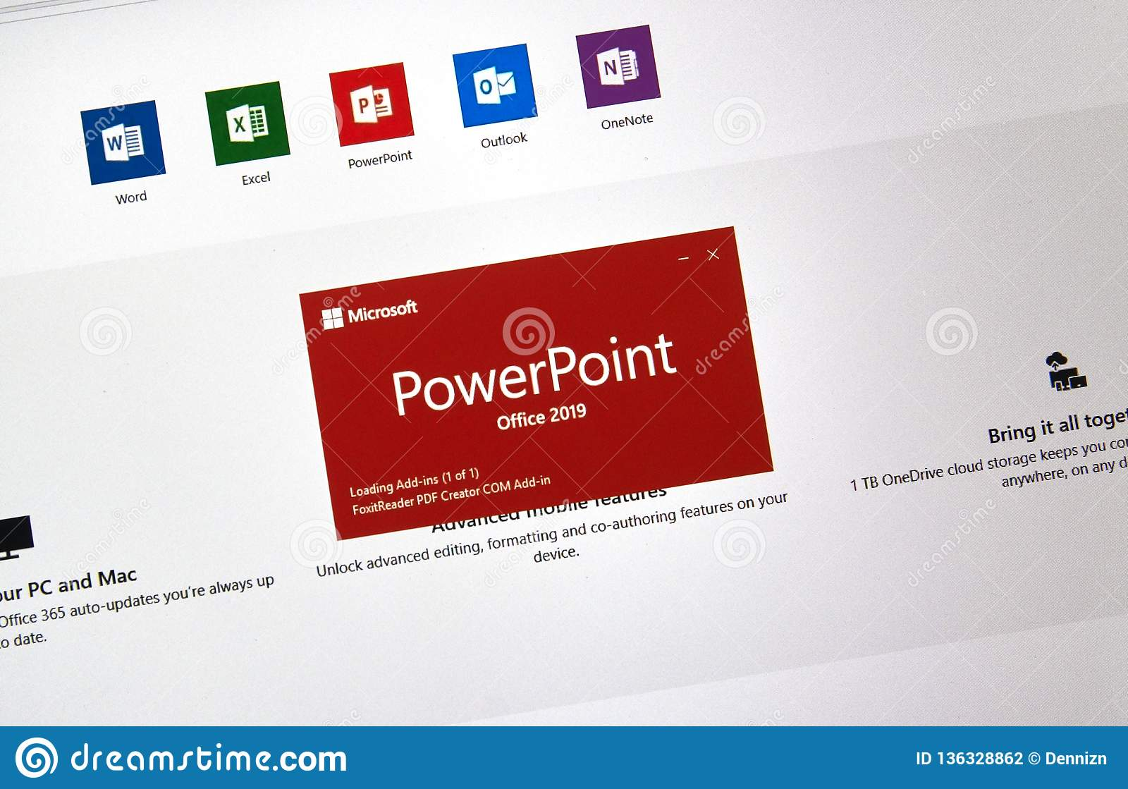 MIcrosoft Office PowerPoint Editorial Photography - Image of skype