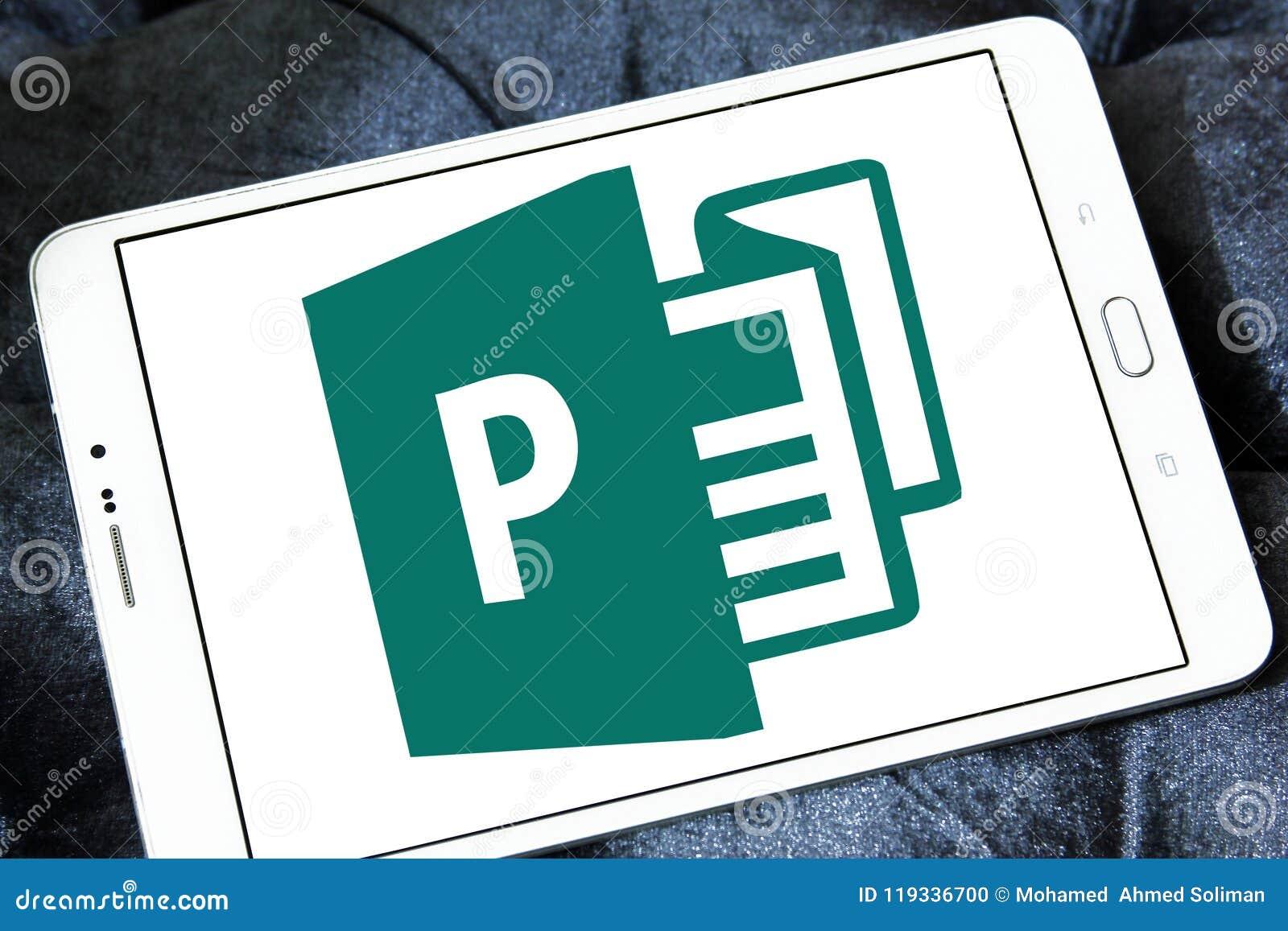 microsoft office publisher logo editorial image