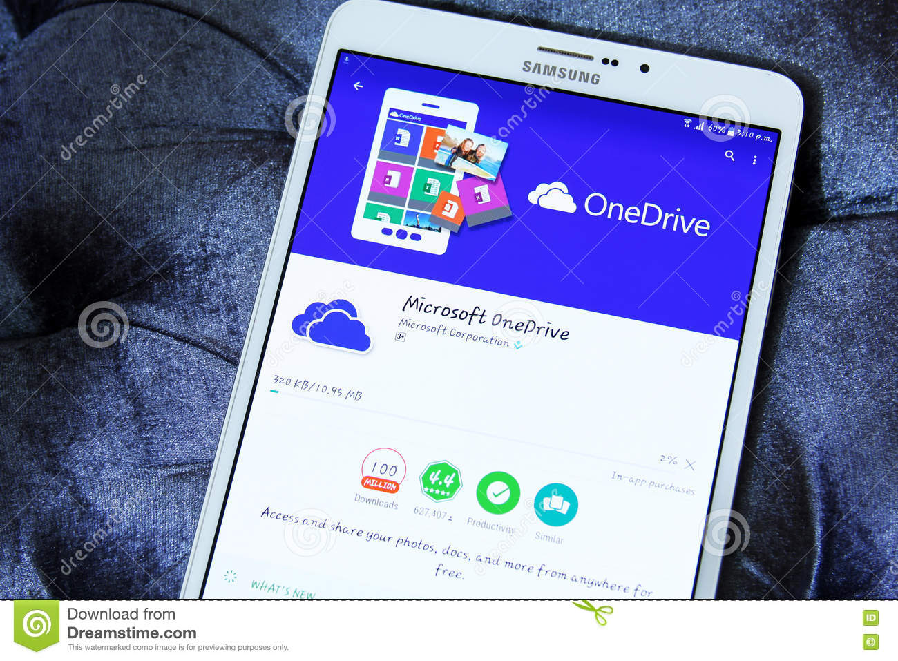 Microsoft onedrive app editorial stock photo  Image of logos - 75384528