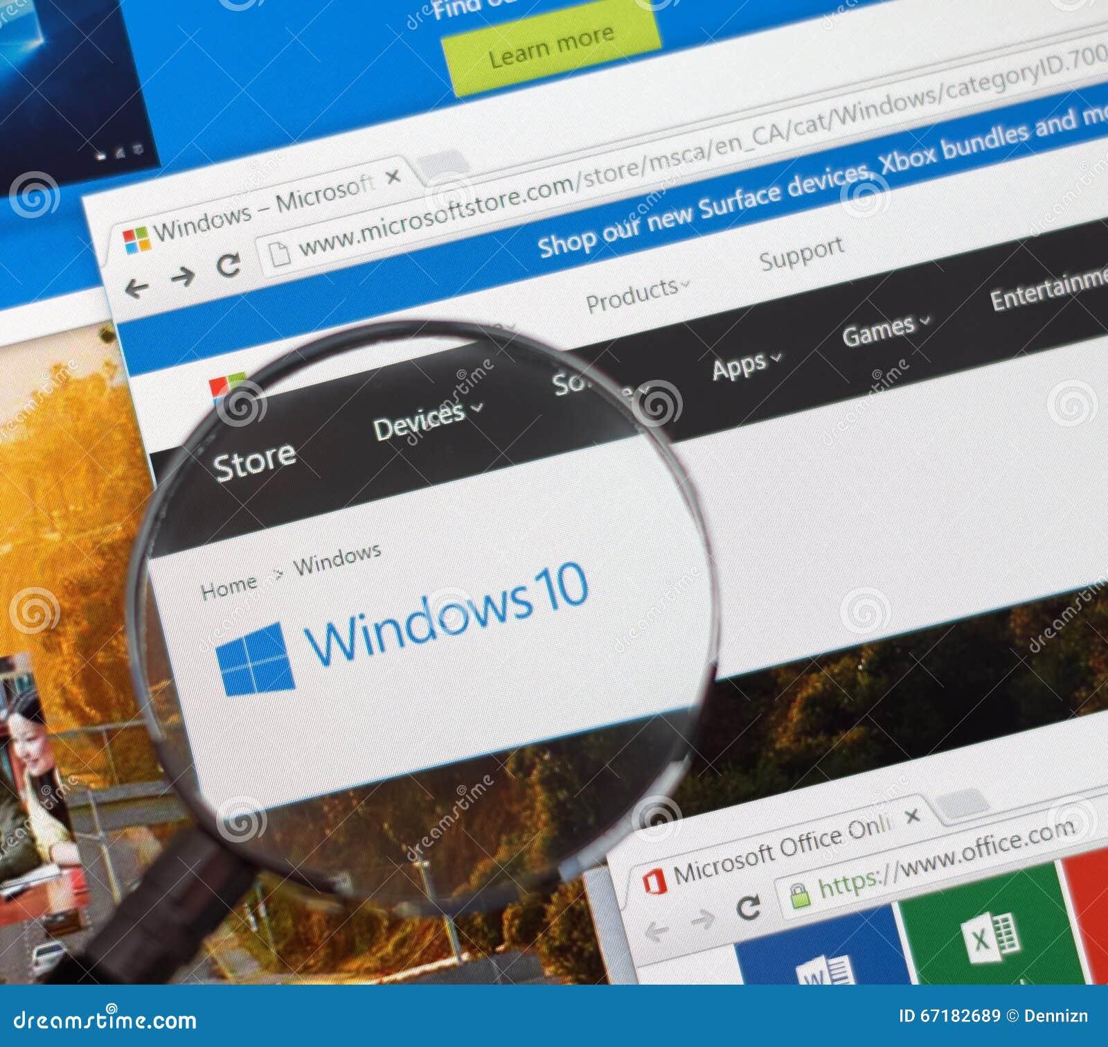 Microsoft Window 10.