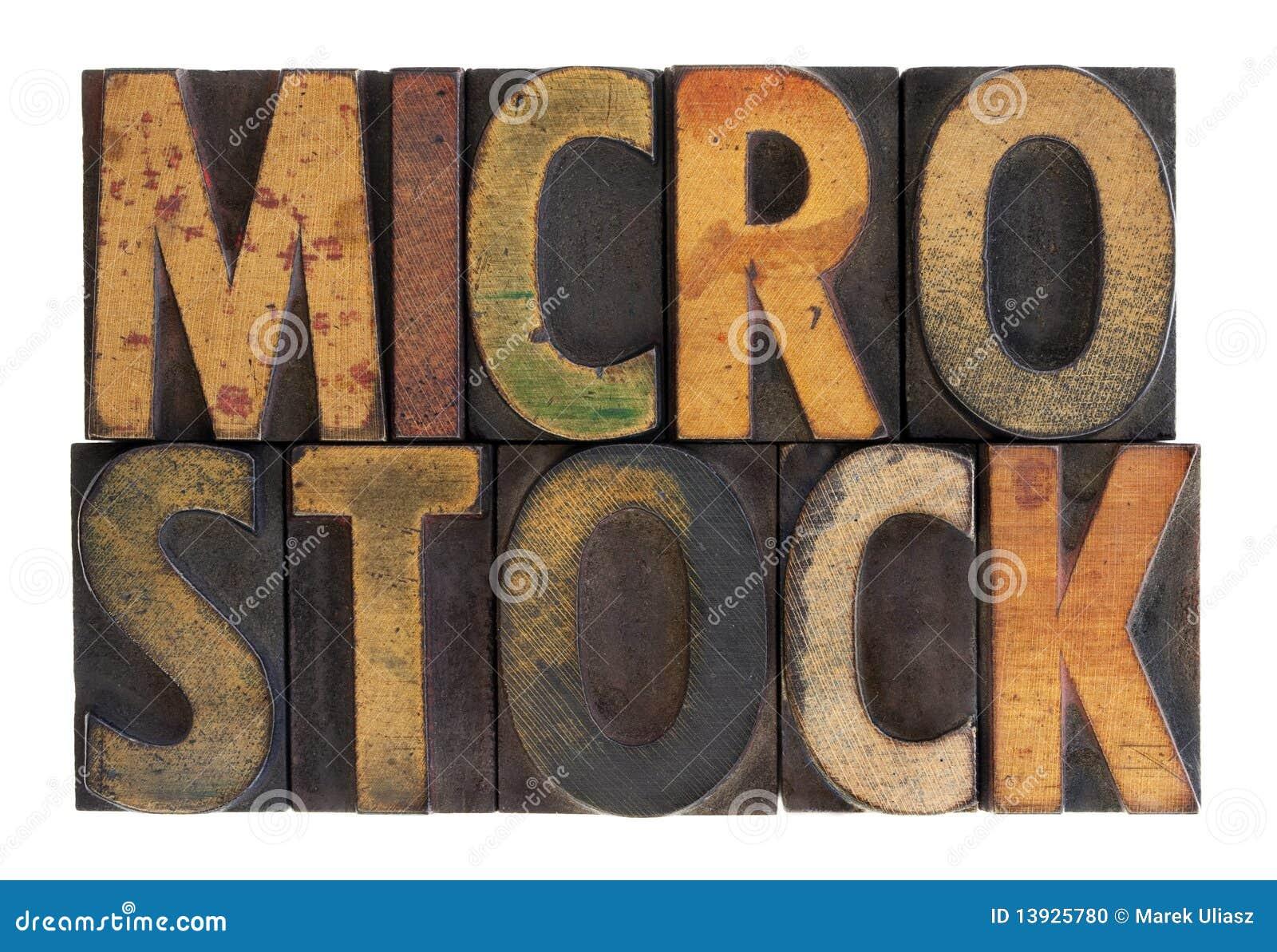 Microstock - vintage wood letterpress type