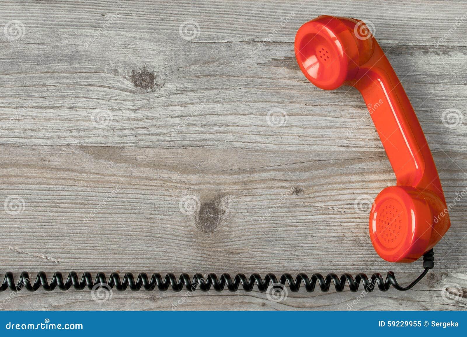 Microteléfono rojo