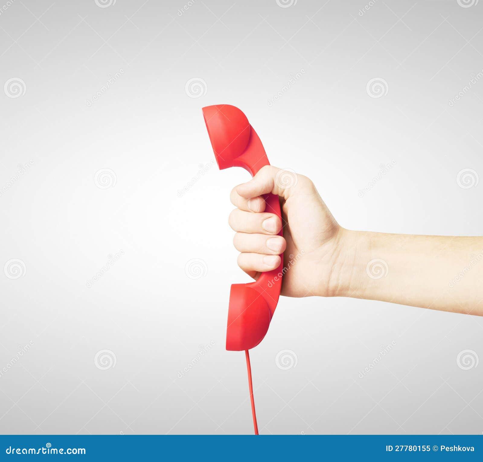 Microtelefono rosso