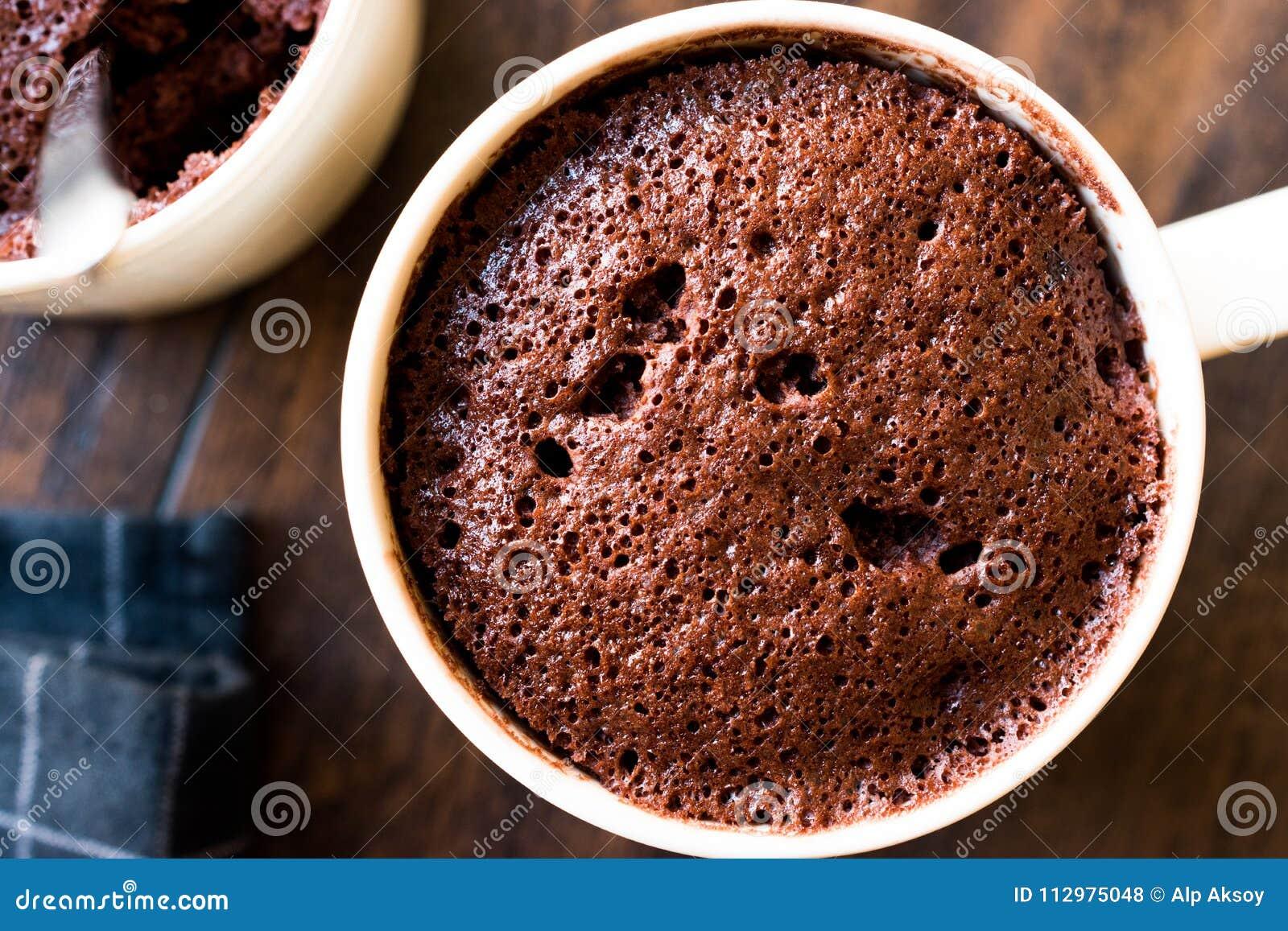 Microwave Brownie Chocolate Mug Cake Ready to Eat.