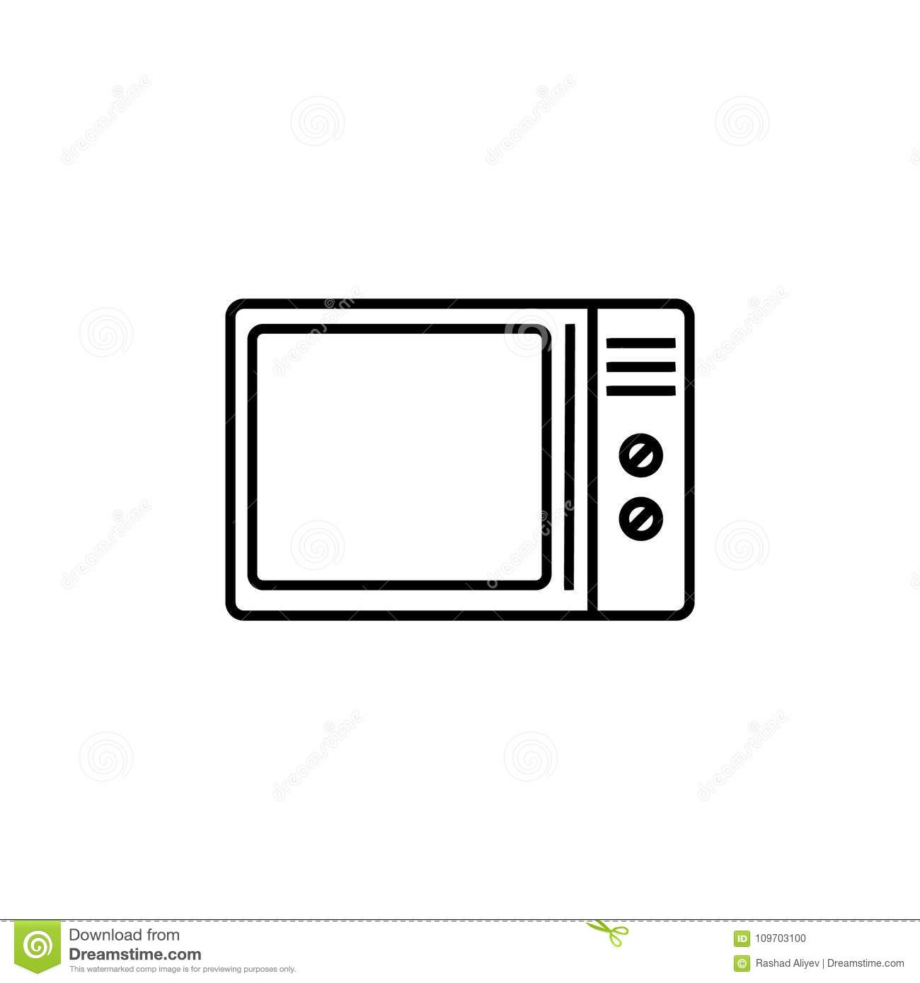 Element Of Home Appliances For Mobile Concept And Web Apps. Thin Line