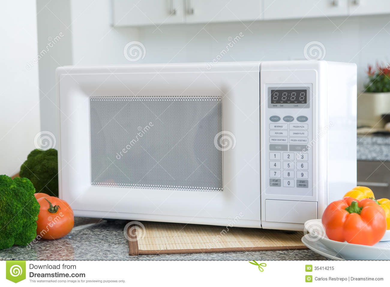 Kitchen Setting Microwave Royalty Free Stock Photo Image 35414215