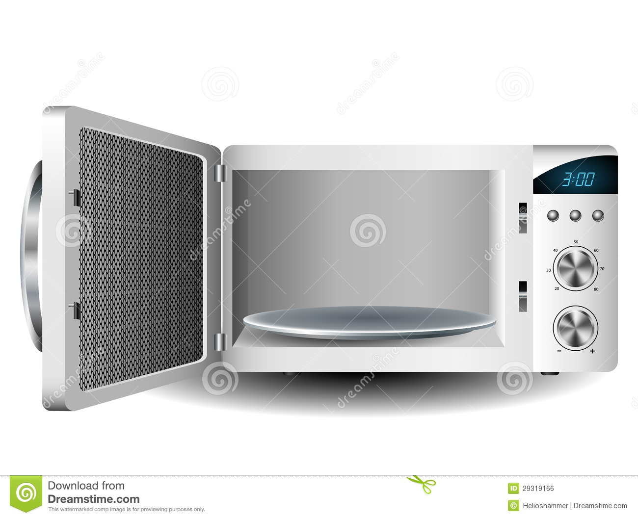 Microwave Oven Stock Vector Illustration Of Equipment