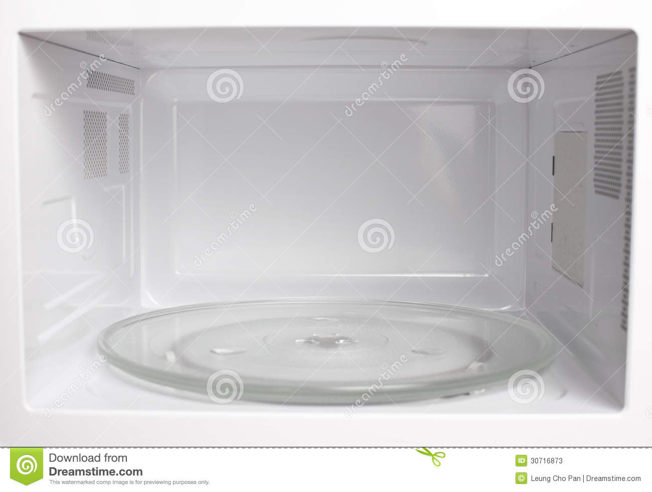 Microwave oven inside view stock photos image 30716873 - How to vent a microwave on an interior wall ...