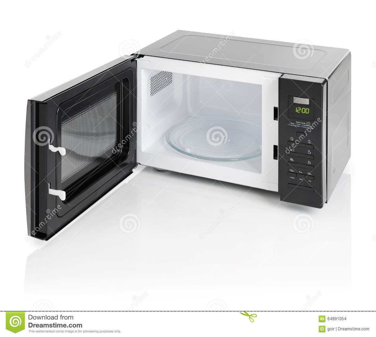 Microwave Oven Isolated Stock Photo - Image: 64891054