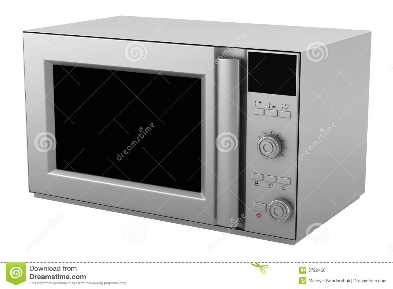 Microwave Oven Isolated On White Background Stock Photo