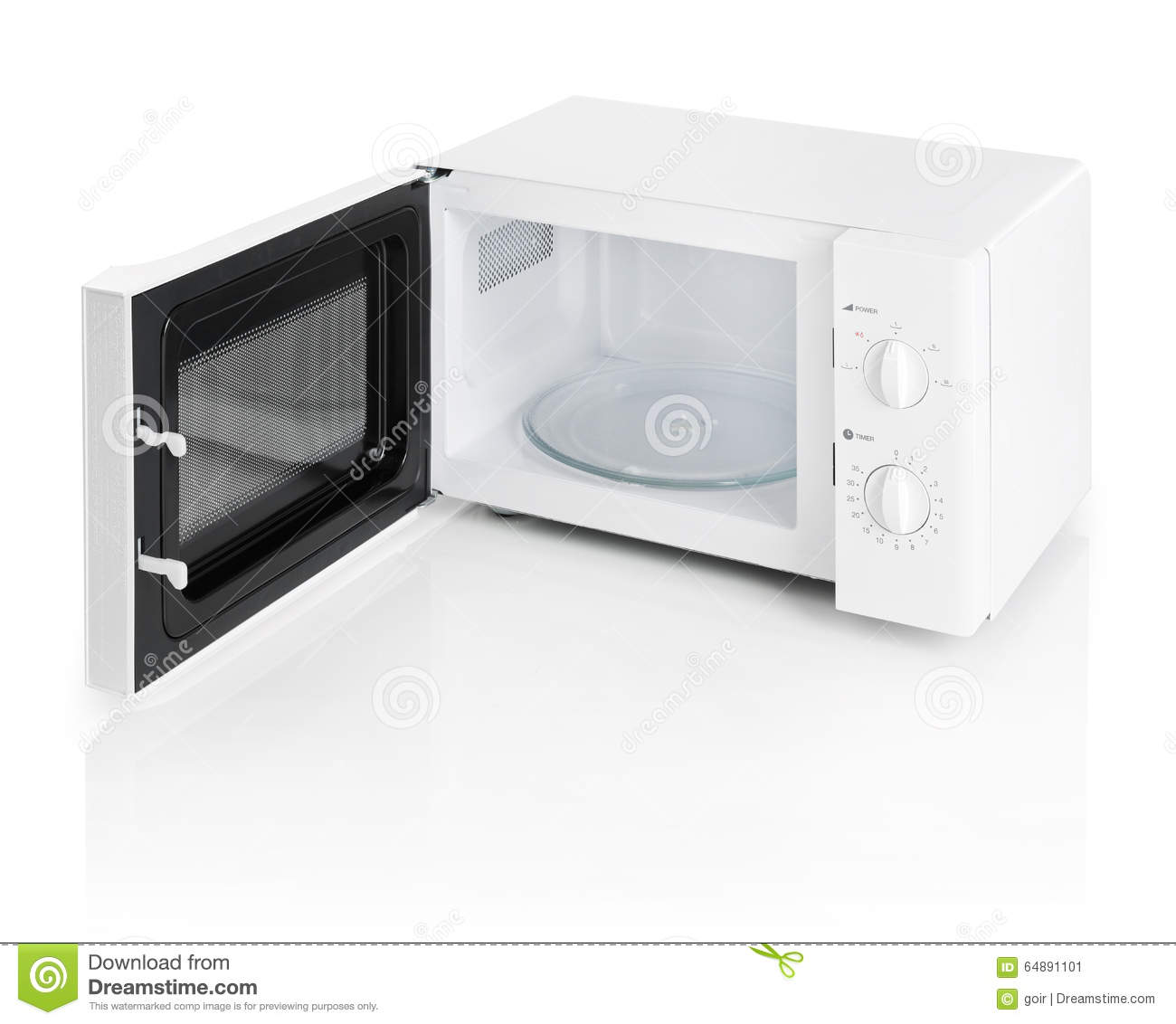 Microwave Oven Isolated On White Stock Photo - Image: 64891101