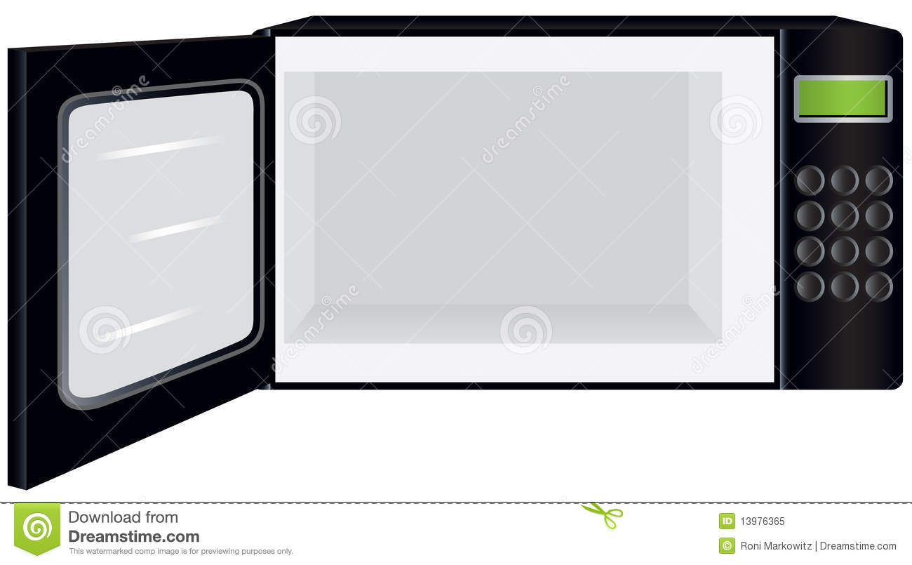 Microwave Oven With Open Door Royalty Free Stock Photo - Image ...