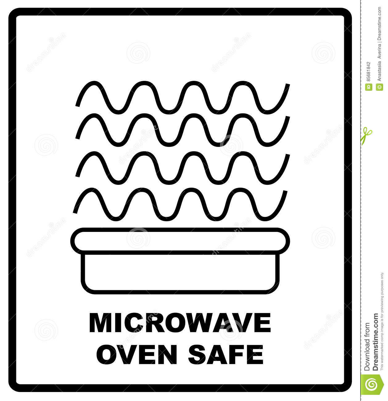 Microwave oven safe symbol isolated vector illustration symbol microwave oven safe symbol isolated vector illustration symbol for use in package layout design for use on cardboard biocorpaavc Images