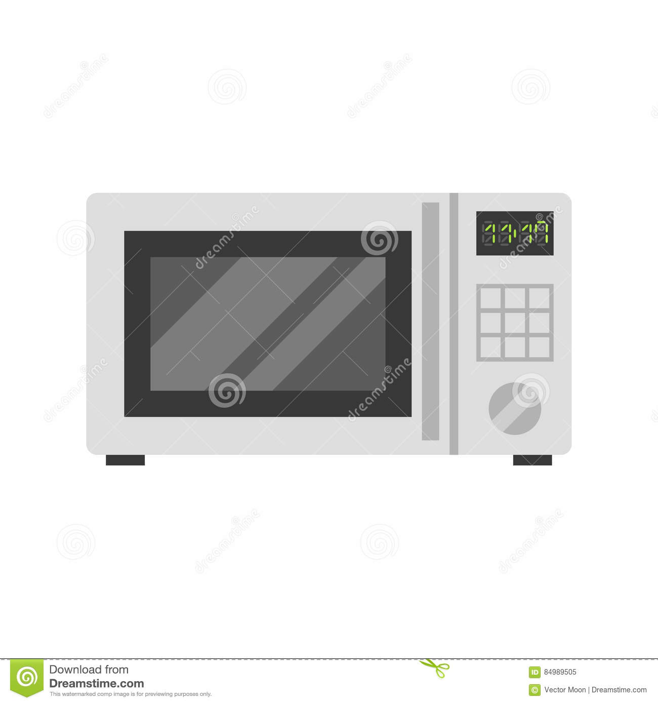 Microwave Oven Vector Illustration. Stock Vector - Illustration of ...