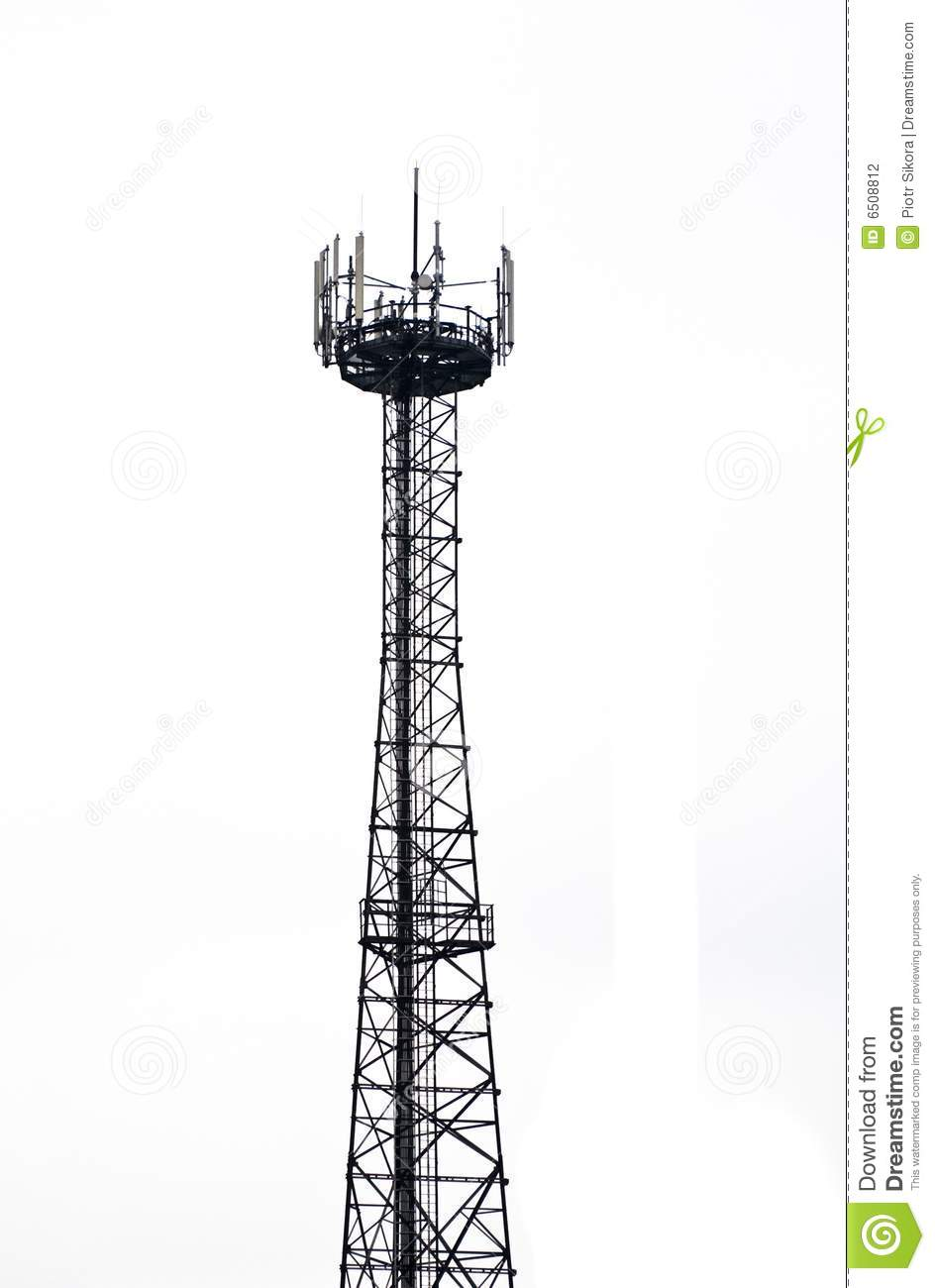 Microwave Tower Isolated Stock Photography Image 6508812