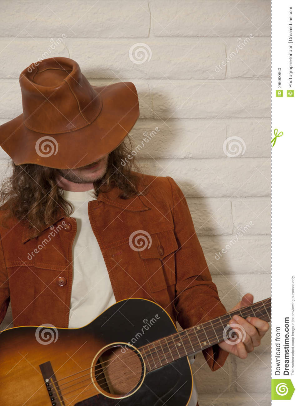 Half Jacket 2 0 >> Mid Adult Man Wearing Cowboy Hat And Playing Guitar Stock ...