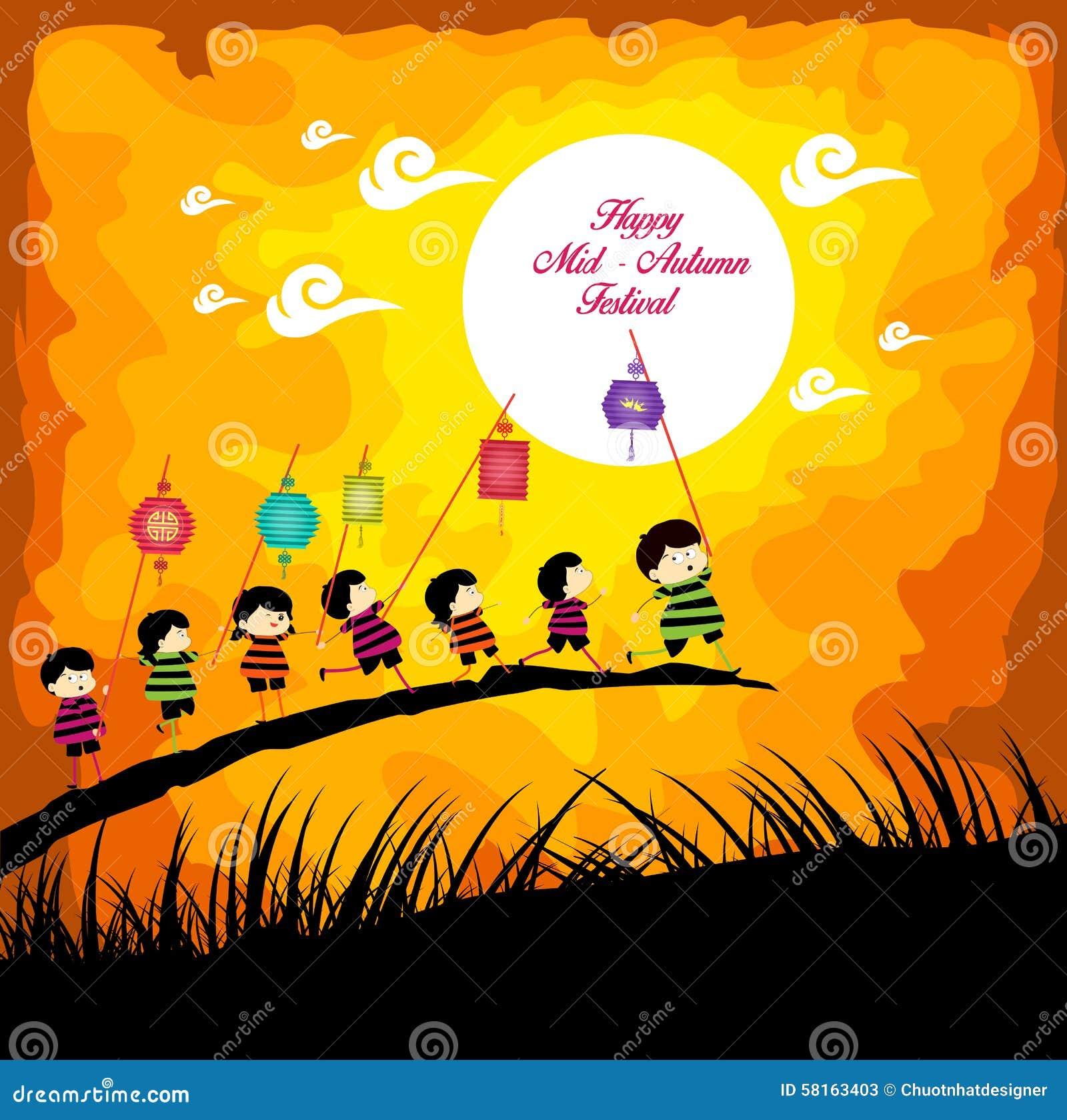 Mid Autumn Festival Stock Vector - Image: 51868705