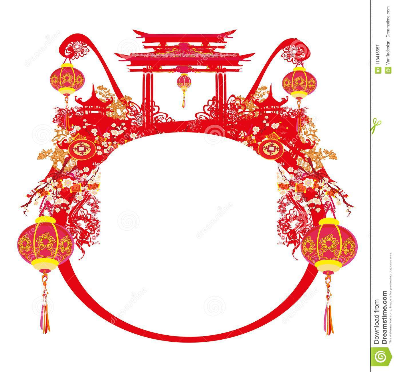 Mid-Autumn Festival For Chinese New Year - Card Stock Vector ...