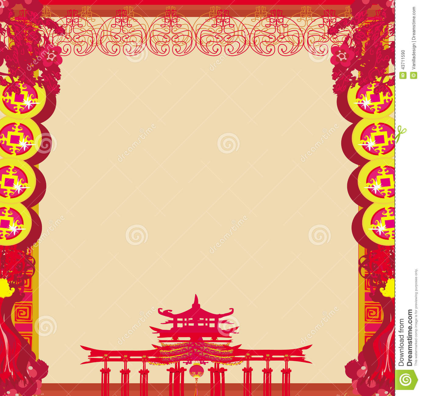 Mid-Autumn Festival For Chinese New Year - Frame Stock Vector - Image ...