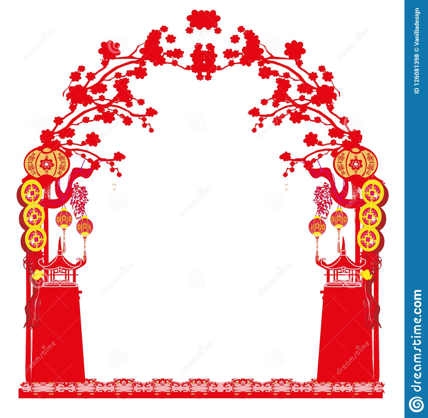 mid autumn festival for chinese new year frame