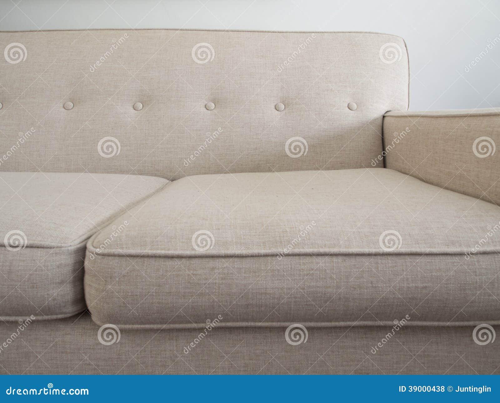 mid century modern sofa beige color stock photo image